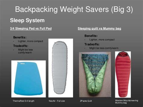 lighten that pack an introduction to lightweight