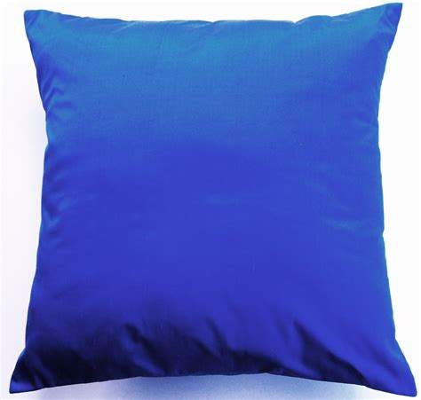 blue throw pillows for couch cobalt blue throw pillow simply silk cushion cover 16 x 16