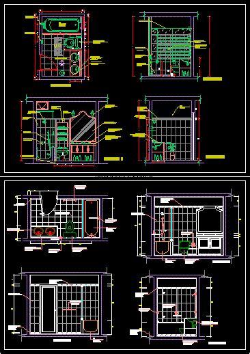 detalle de bano dwg block  autocad designs cad