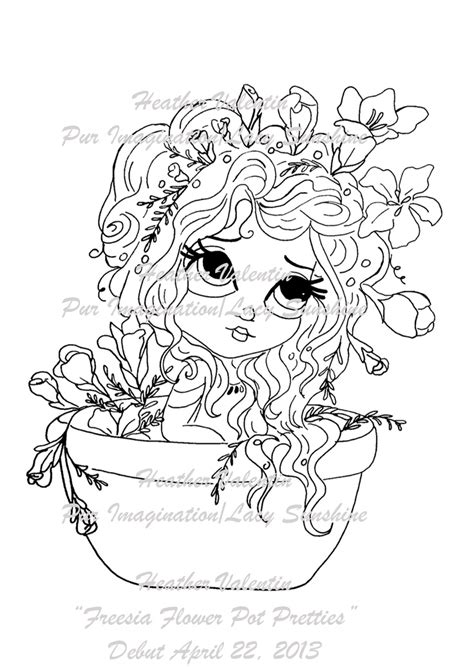 my besties flower petal pots coloring book books freesia flower pot pretties digi st available at www