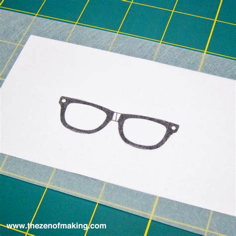 How To Make Glasses Out Of Paper - tutorial shrink plastic glasses pendant the zen of
