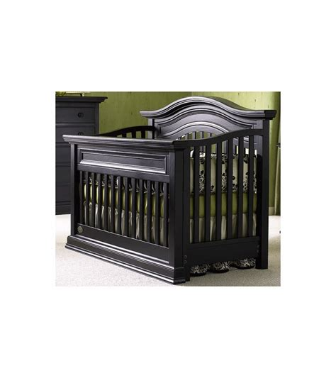 Bonavita Sheffield Lifestyle Crib In Distressed Black Bonavita Baby Crib
