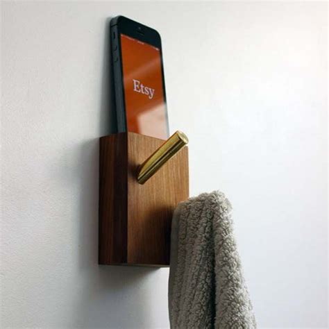 Handmade Wall Hangers - the handmade wall hanger with integrated iphone dock free
