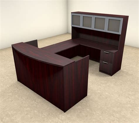 U Shaped Reception Desk 5pc U Shaped Modern Executive Office Reception Desk Ot Sul R11 Ebay