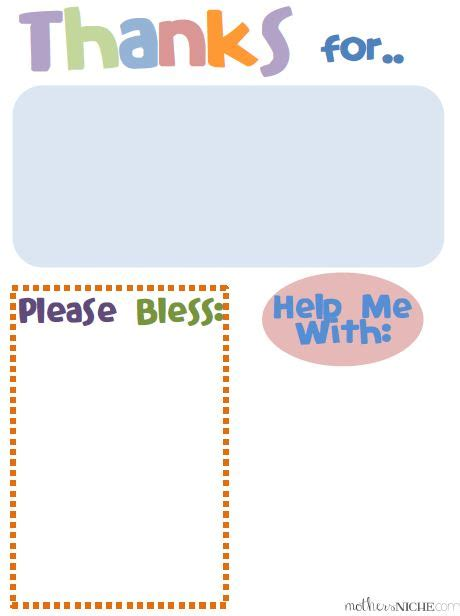 writing a prayer template teaching kids to pray prayer journal template