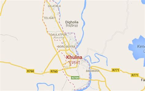 map of khulna city house of pm s cousins attacked in khulna bdnews24