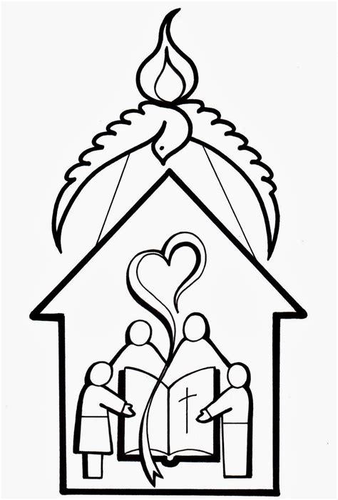 imagenes para colorear iglesia el rinc 243 n de las melli dibujo iglesia comunidad