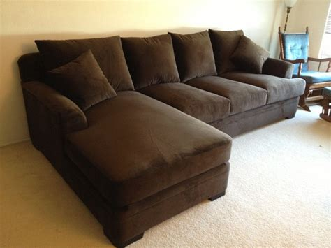 deep couch monica style comfy extra deep and plush sectional