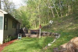 Sloping backyard design help