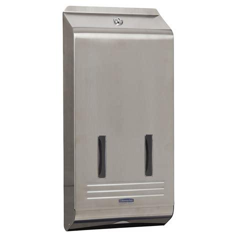 kimberly clark stainless steel interleaved toilet tissue dispenser kimberly clark professional