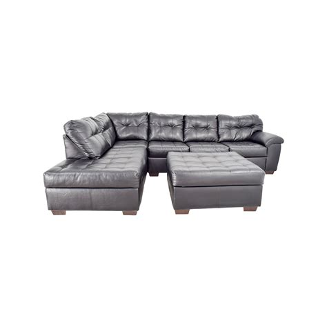 tufted leather sectional sofa tufted sectional sofa home design