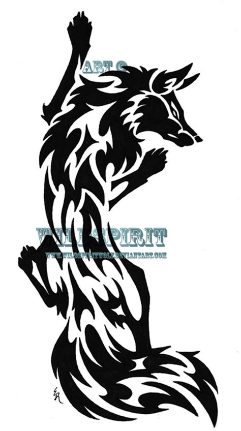 fox tribal tattoo climbing fox tribal by wildspiritwolf on deviantart