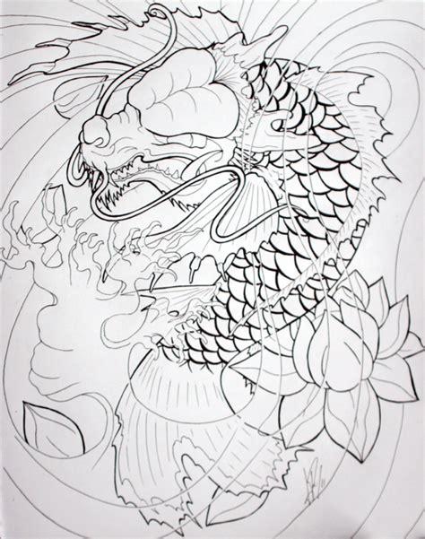 koi dragon tattoo designs koi by skelos on deviantart