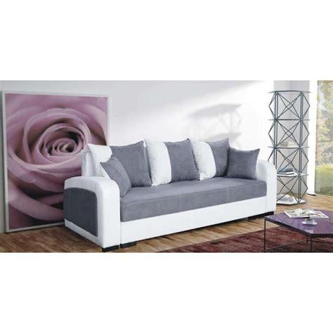 canape trois place convertible canap 233 convertible 3 places fiona gris achat vente canap 233 sofa divan tissu simili