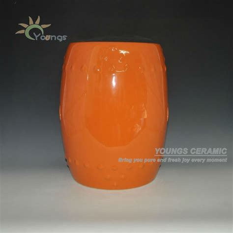 Orange Garden Stool by Orange Glazed Ceramic Porcelain Garden Stools View Stool Youngs Product Details From