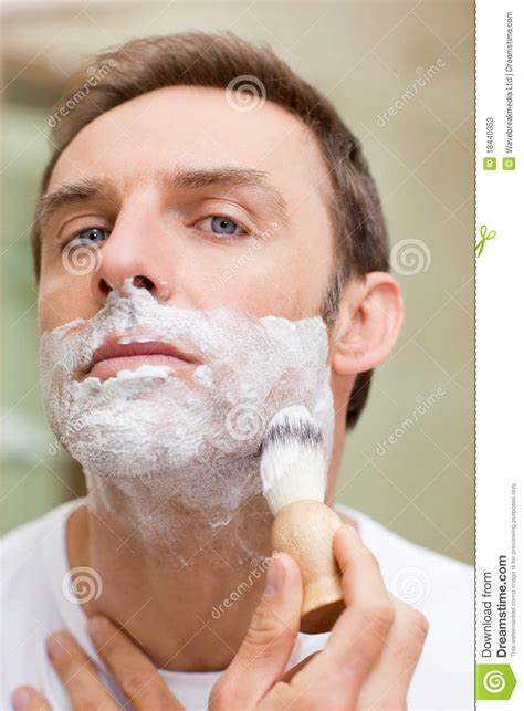 shaving bathroom man shaving in the bathroom stock photos image 18440353