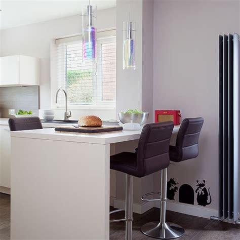 white modern breakfast bar kitchen beautiful kitchens white kitchen with breakfast bar ideal home