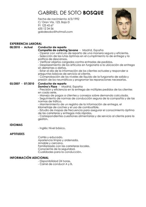 Modelo De Curriculum Vitae Para Chofer Peru Modelo De Curr 237 Culum V 237 Tae Conductor De Repartos Conductor De Repartos Cv Plantilla Livecareer
