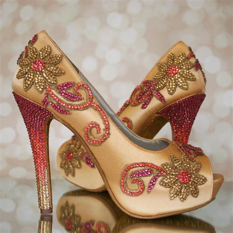 Wedding Shoes Indian custom wedding shoes creating the pair for an
