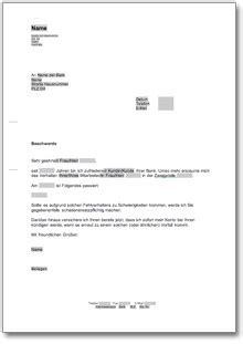 Musterbrief Reklamation Uhr beschwerde 252 ber einen bankmitarbeiter muster vorlage zum