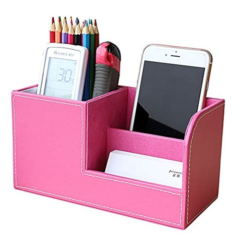 Dompet High Grade Pu Leather Ribbon Things All About kingfom pu leather desk organizer pen pencil holder business name cards remote holder