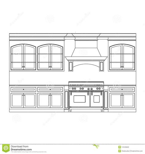 kitchen cabinets drawings kitchen cabinets stock photography image 14125622