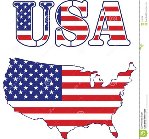 usa map  text flag royalty  stock  image