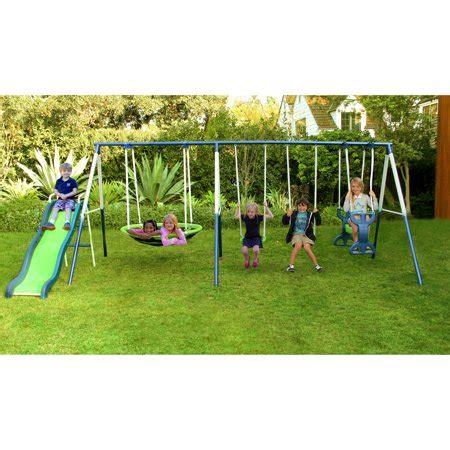 Slide Set sportspower outdoor rosemead metal swing and slide set
