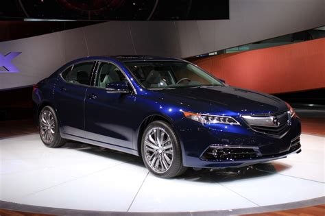 2015 acura tlx 2014 new york auto show live photos