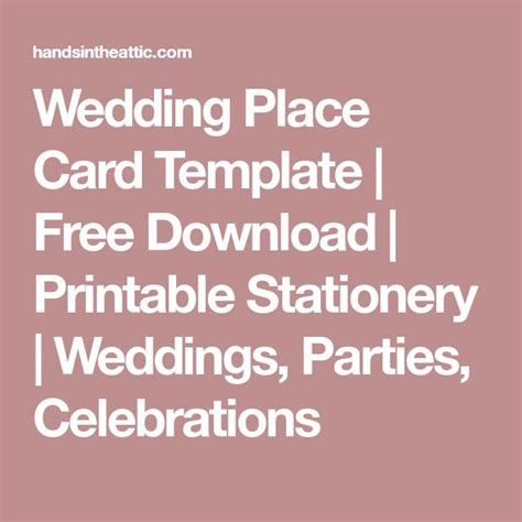 Do It Yourself Place Cards Templates by Best 25 Free Place Card Template Ideas On Diy