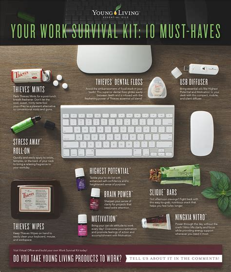 young living essential oils desk your work survival kit 10 must haves young living blog