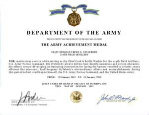 army award citation examples arcom