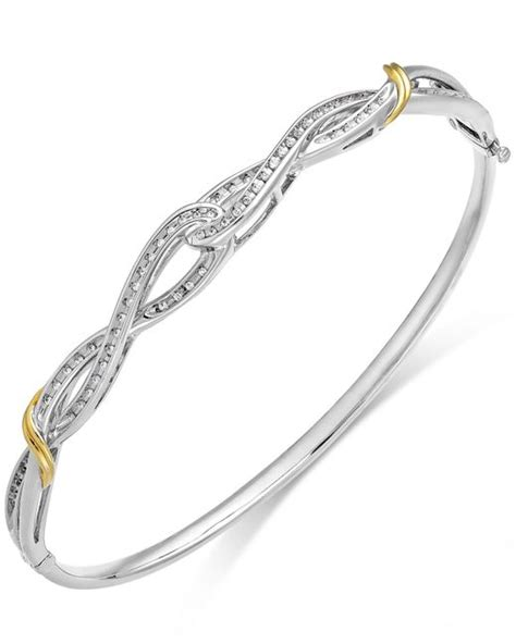 New Sunglasses 743 Silver 1 macy s twist bangle bracelet in 14k gold and