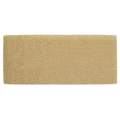 nedia home no border plain 24 in x 57 in coir door mat