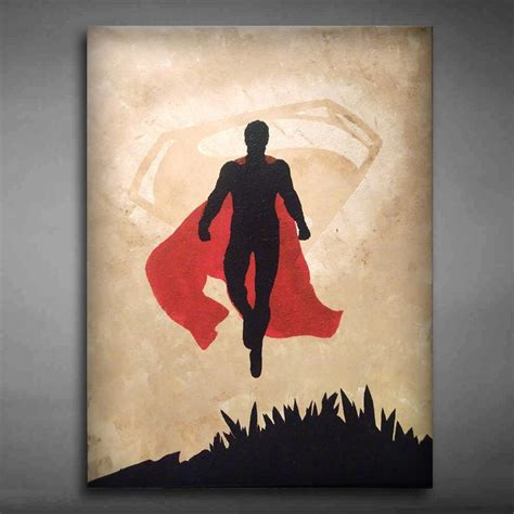 drawing and painting original made canvas wall superman painting