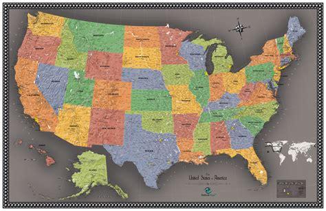 usa wall map contemporary usa wall map maps