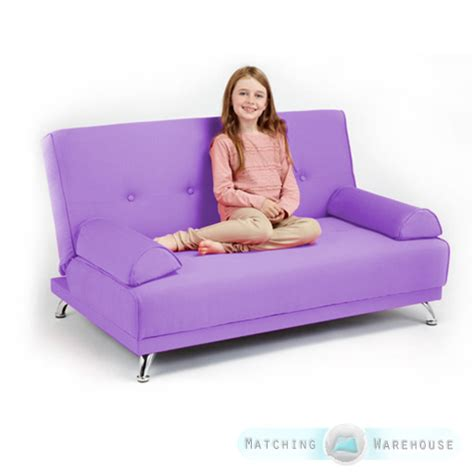 kids futon childrens cotton twill clic clac sofa bed with armrests