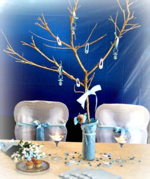 blue centerpieces for baby boy showers that are cute cheap