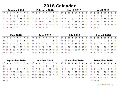 Calendar 2018 Not On The High 2018 Calendar One Page Yearly Calendar Printable