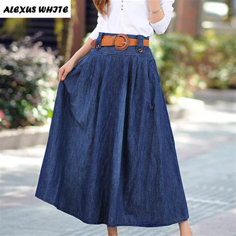 maxi skirts s 2017 summer new large swing