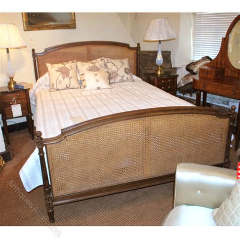 french cane bed kingsize french cane bed antiques atlas
