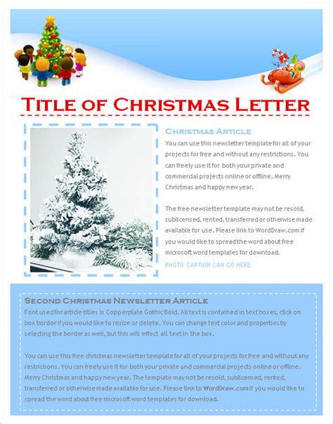 Christmas Newsletter Ideas Christmas Decore Free Newsletter Templates Microsoft Office