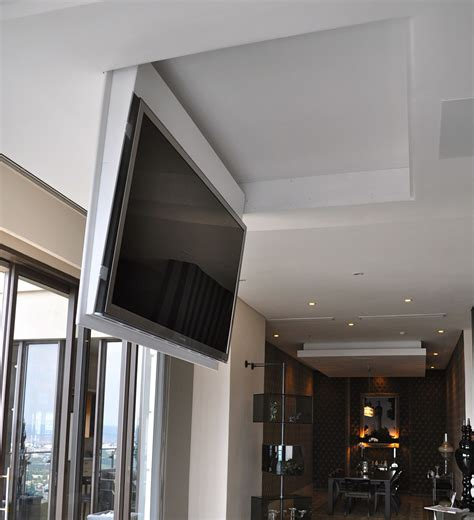 Ceiling Mounted Tv Lift by Definition Cabinet Tv Lifts