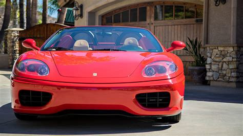 classic ferrari 360 spider 6 speed manual 2 owners 22 0 for sale classic sports car ref ferrari 360 spider 6 speed manual classic red tan