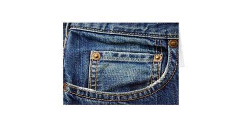 Jean Card And Gift Company - denim blue jean pocket card zazzle