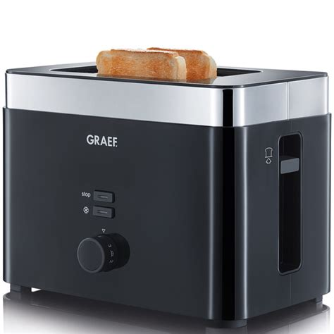 Mini Toaster Graef To62 Uk 2 Slice Compact Toaster Black Iwoot