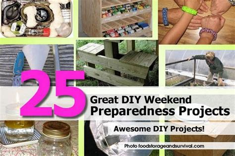 weekend diy home projects 25 great diy weekend preparedness projects