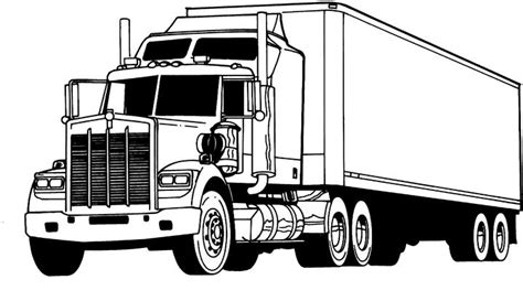 Truck Coloring Pages Coloringpages1001 Com Truck Colouring Pages
