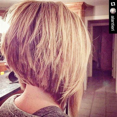 medium shorter in back hairstyles 25 best ideas about stacked bob long on pinterest