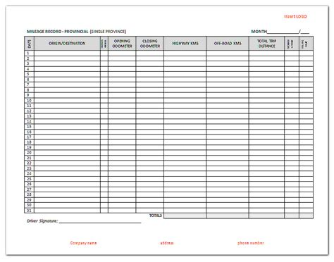 mileage report template ifta mileage report template pictures